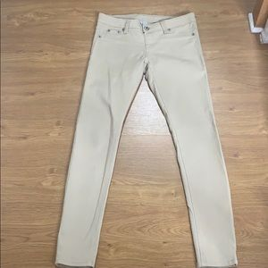 Blue Asphalt Tan Size Med Stretch Jean Jeggins